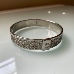Coach | SIlver Bangle with Embossed C's